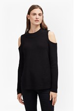 Looks Great With Cold Shoulder Cotton Jumper