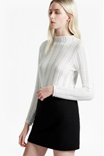 Looks Great With Mozart Ladder Open Knit Jumper