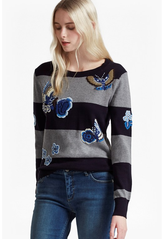 RSVP Argento Embroidered Patch Jumper