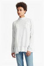Looks Great With Spring Alice Frill Hem Embroidered Jumper