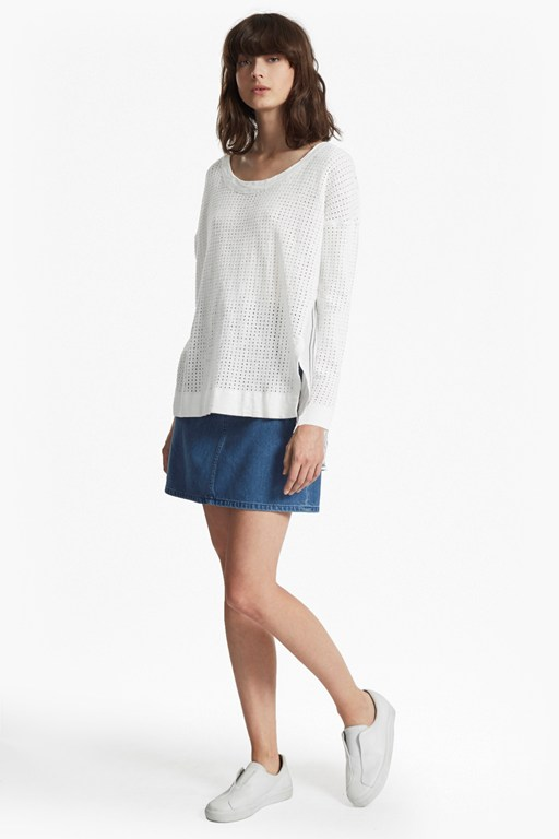 Max Mix Knit Striped Back Jumper