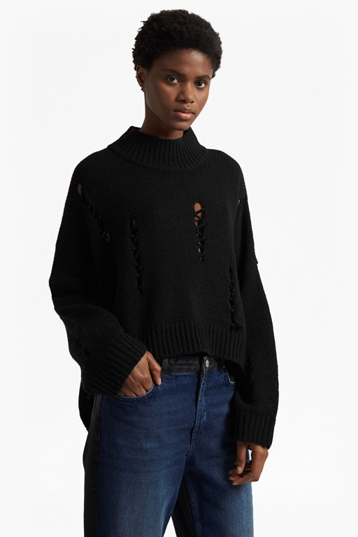 Nixo Knit Distressed Jumper