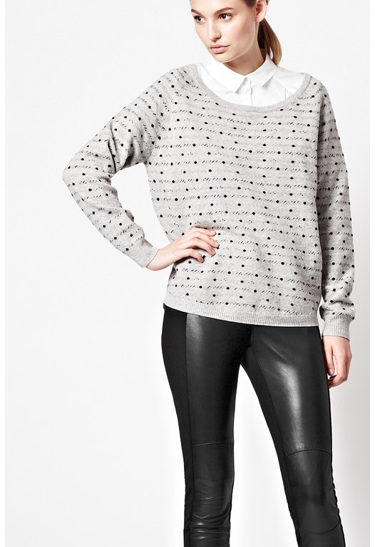 Wendy Spot Scoop Neck Jumper