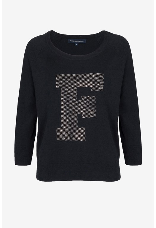 F Diamond Knitted Jumper