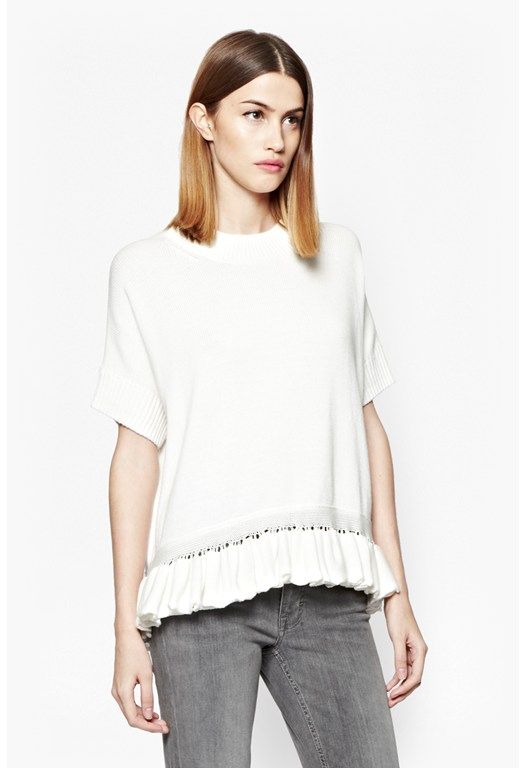 Frill Knits Round Neck Jumper