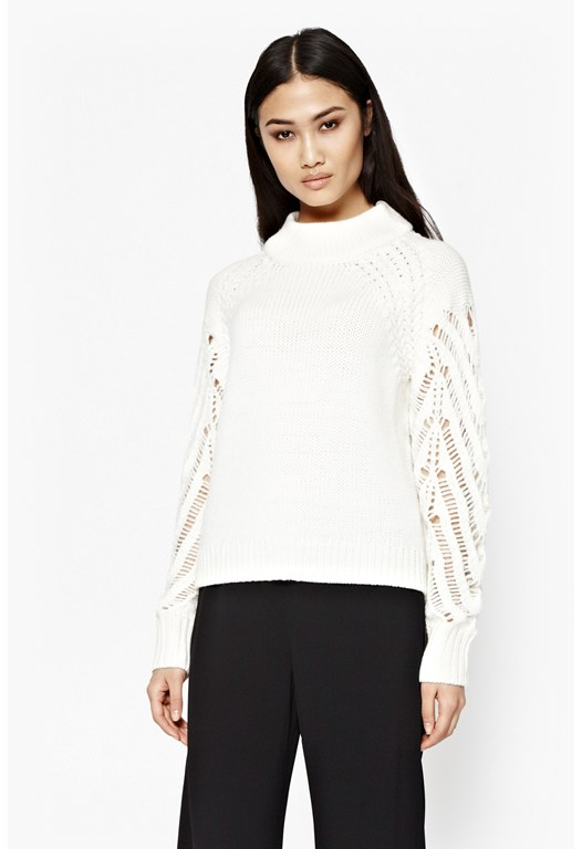Kora Laddered Sleeves Jumper