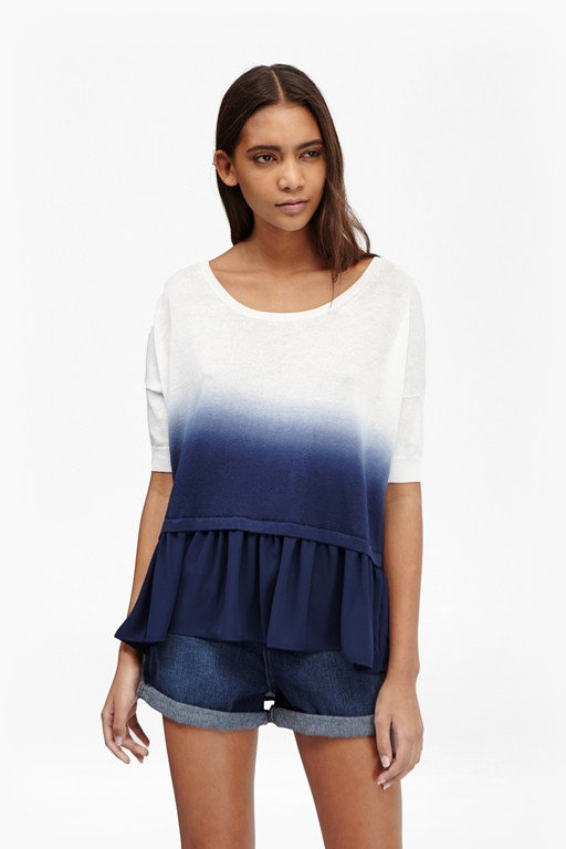 dip dye knitted tasselled jumper