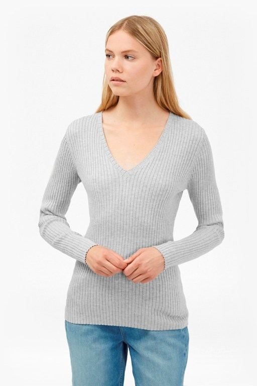 Complete the Look Bambino Rib V Neck Jumper