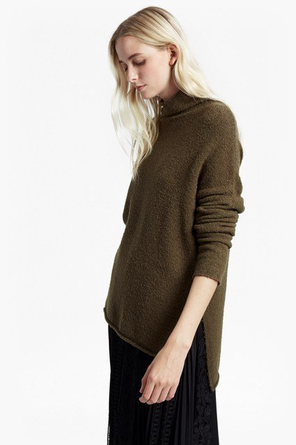 Aya Flossy Funnel Neck Sweater