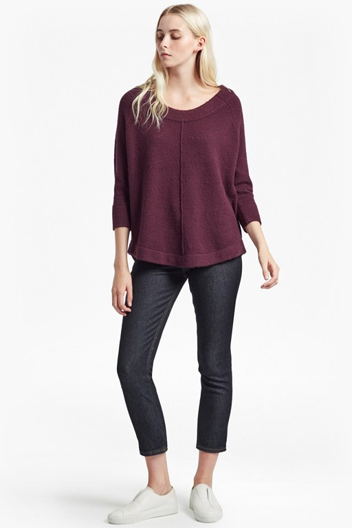 autumn flossy round neck jumper