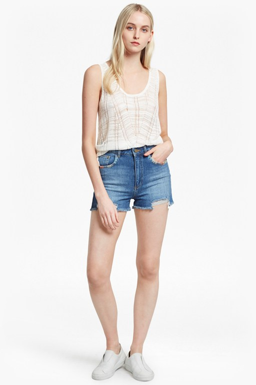 klint stitch knit tank top