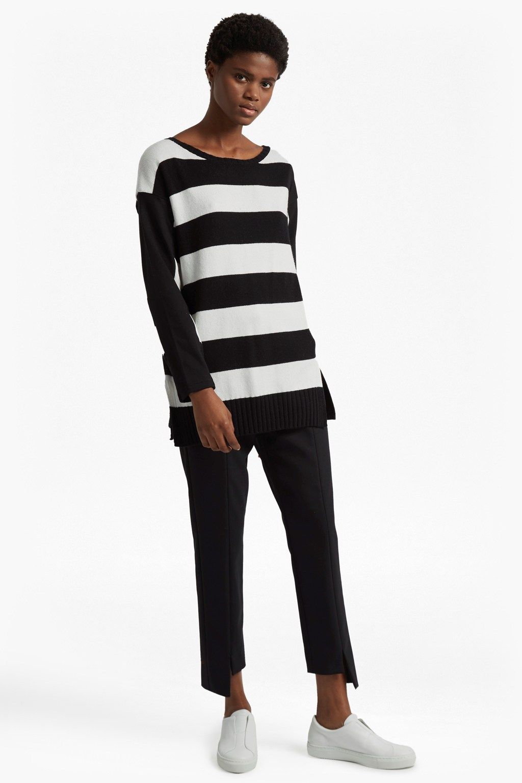 58ea469a49e Ollie Striped Knit Crew Neck Jumper | Sale | French Connection Usa
