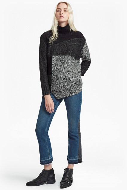 Anna Patchwork Knitted Jumper