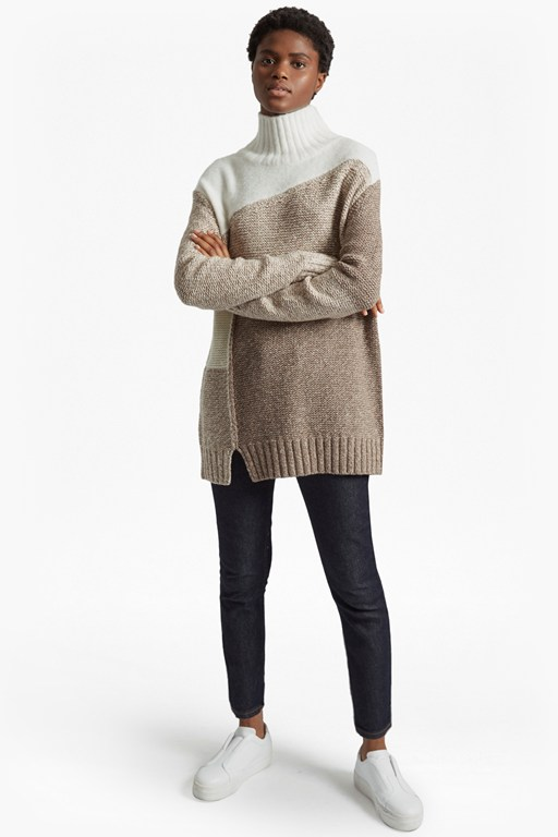 Complete the Look Anna Patchwork Knitted Jumper