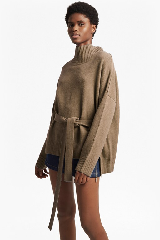reba knits long sleeved high neck jumper
