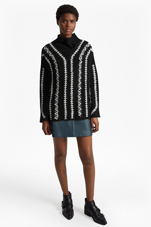 Complete the Look Ella Embroidered Wool Blend Jumper