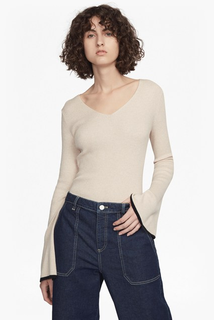 Virgie Knits Long Sleeved V Neck Jumper