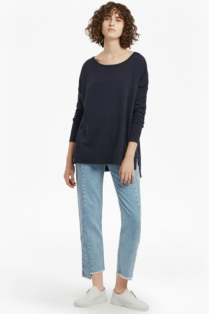 Anna Solid Knits Cotton Jumper