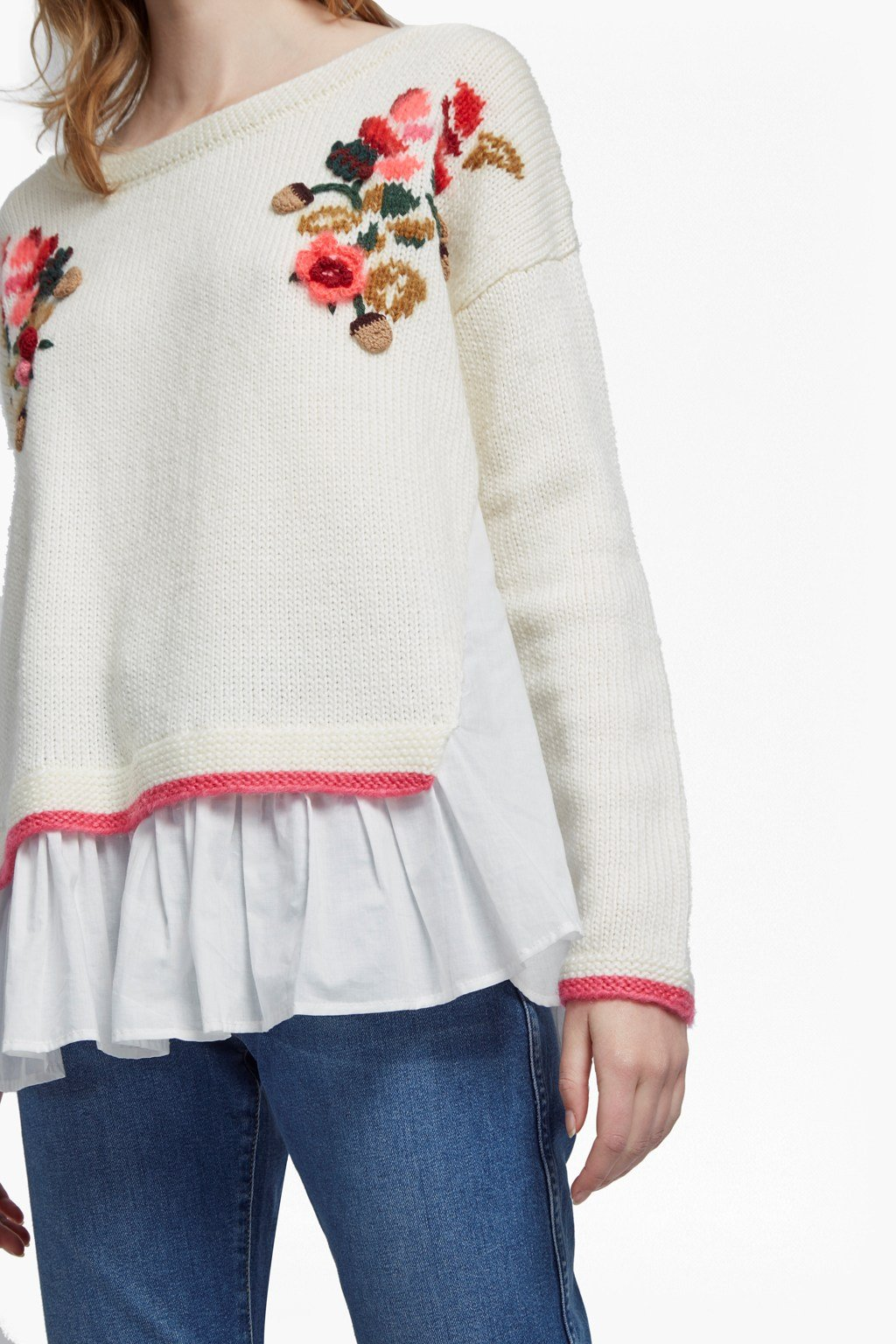 345c16d8742396 ... Vienna Knit Embroidered Jumper Sale French Connection Usa online  retailer 39f46 1b624  Avis Embellished ...