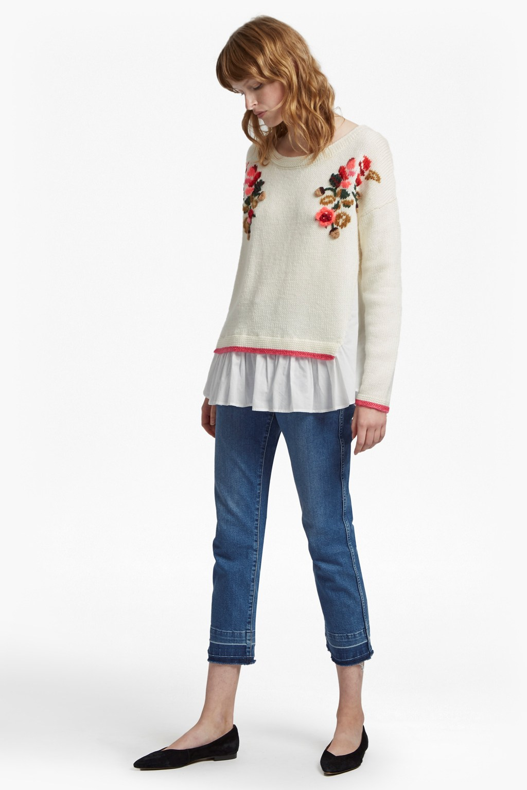d51abd33d7981c ... Vienna Knit Embroidered Jumper Sale French Connection Usa online  retailer 39f46 1b624 ...