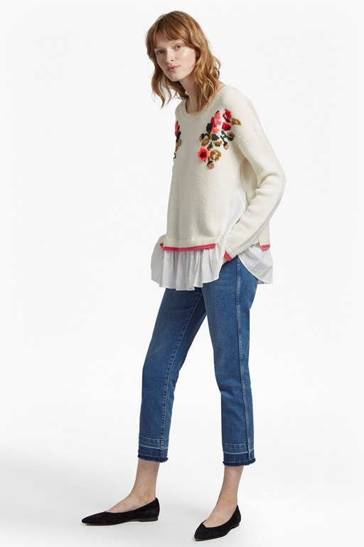 vienna knit embroidered jumper