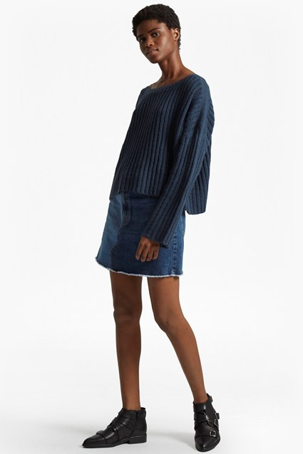 riva rib knit cropped jumper