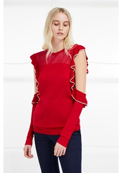 Lois Frill Cold Shoulder Jumper