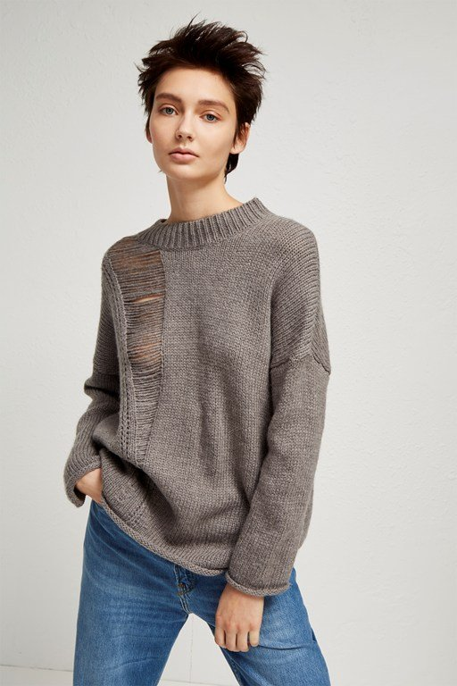isabelle knit laddered jumper