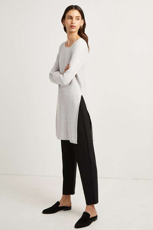 relie knits split side tunic