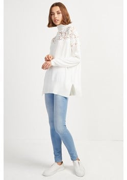 Nadia Lace Knit High Neck Jumper