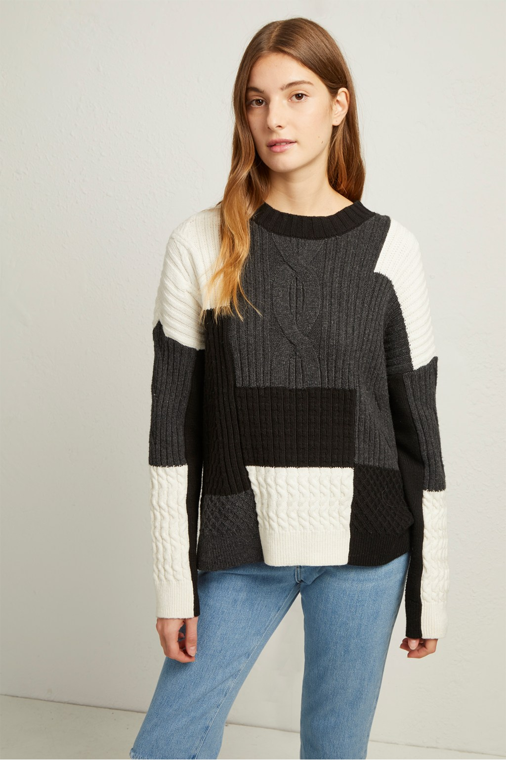 70997dab876afe Amie Patch Knits Cable Jumper. loading images.