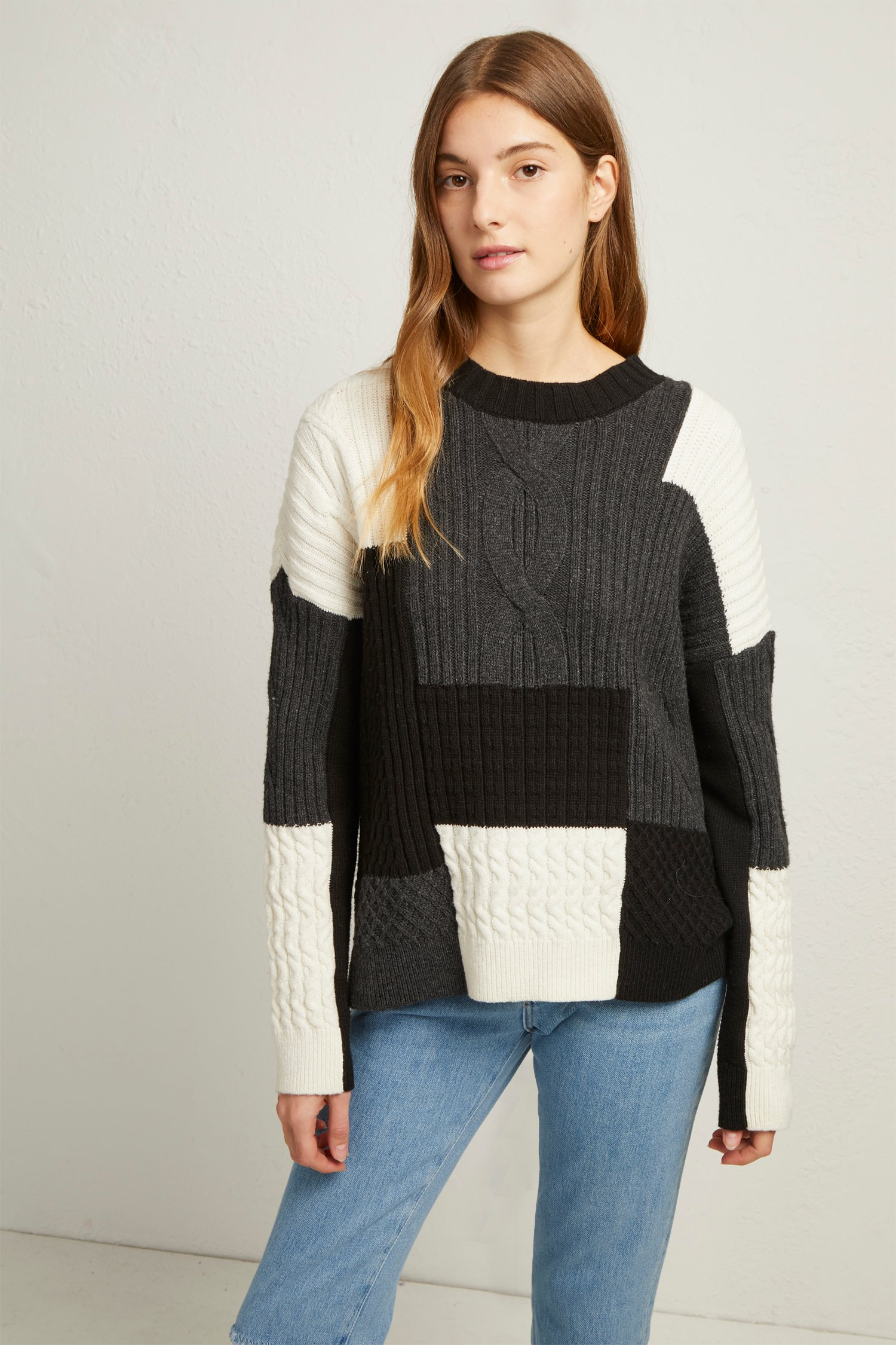 Amie Patch Knits Cable Jumper by French Connection