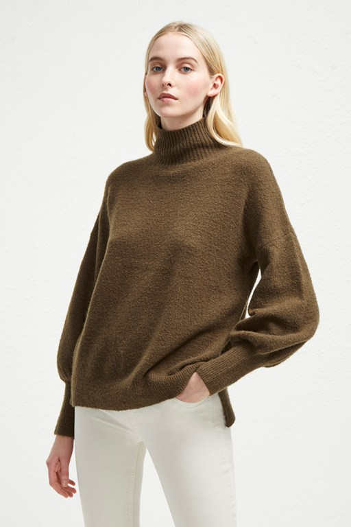 orla flossy balloon sleeve sweater
