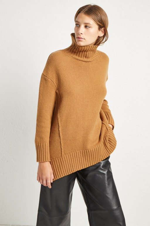 supersoft wool cashmere high neck jumper