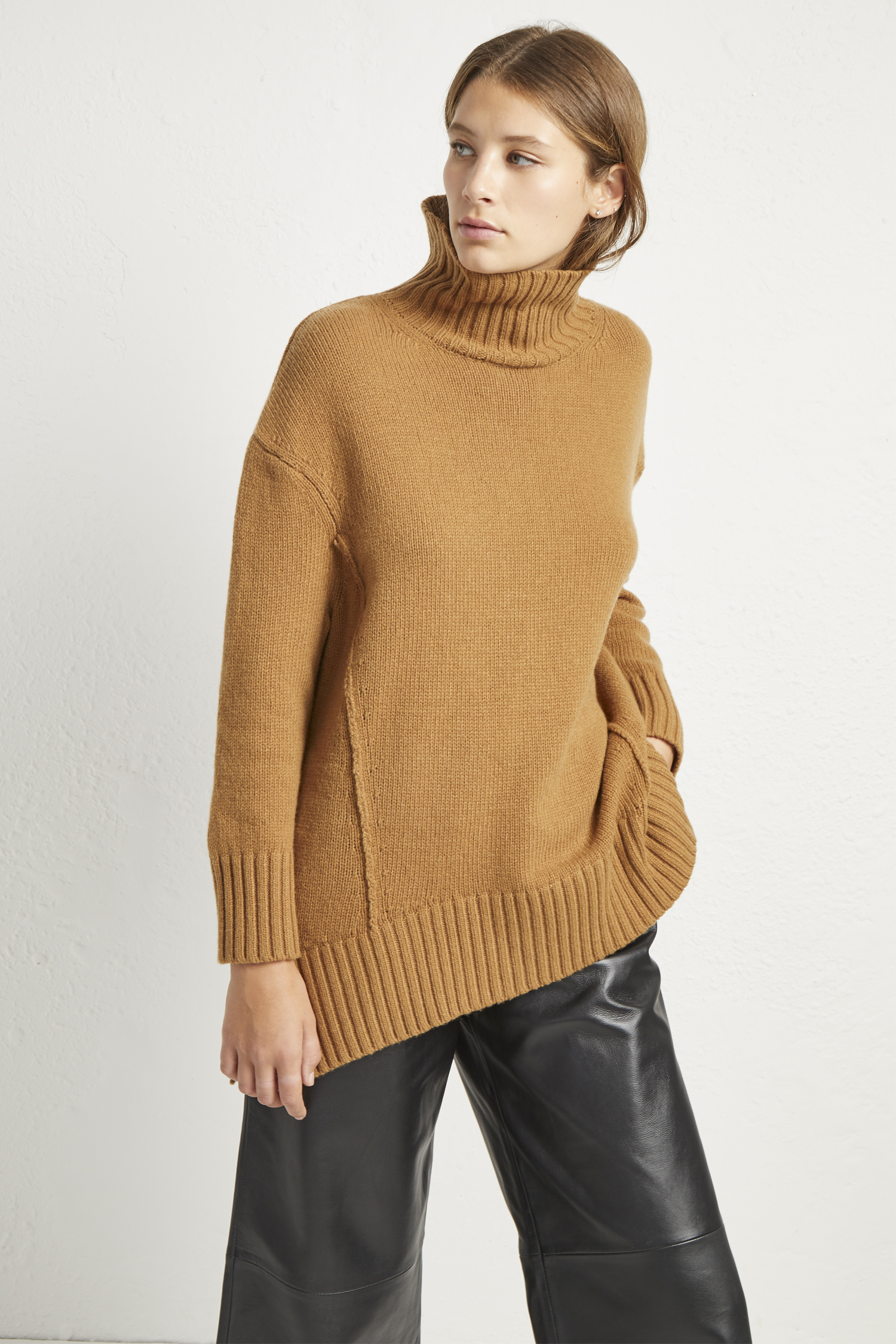 Supersoft Wool Cashmere High Neck Jumper by French Connection