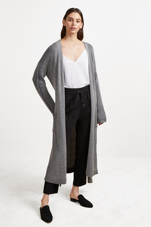 isabea knit long cardigan