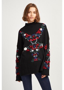 Emily Embroidered High Neck Jumper