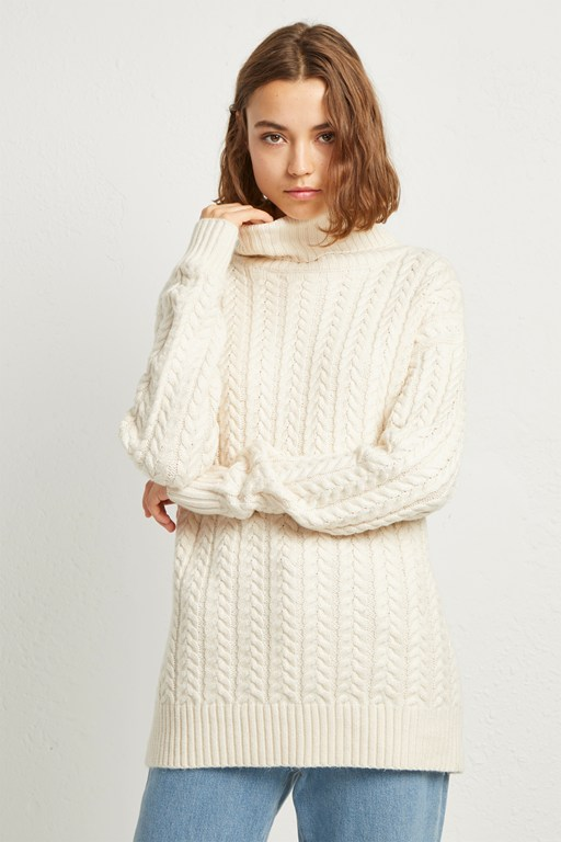 rita cable knit jumper