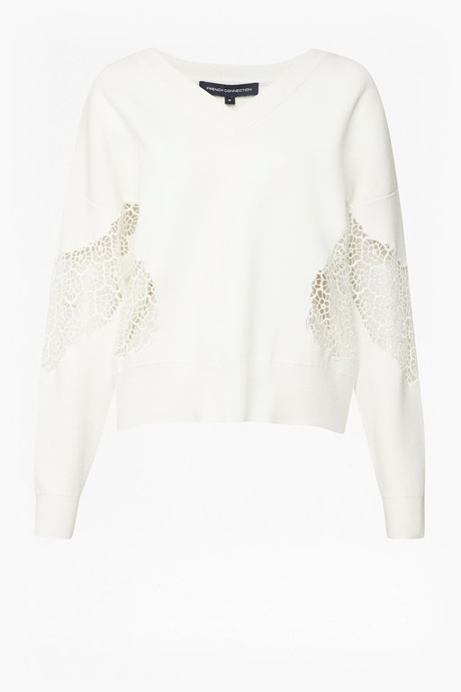 valerie lace knit jumper