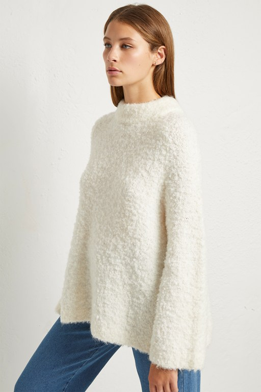 cozy knit raglan sleeve jumper