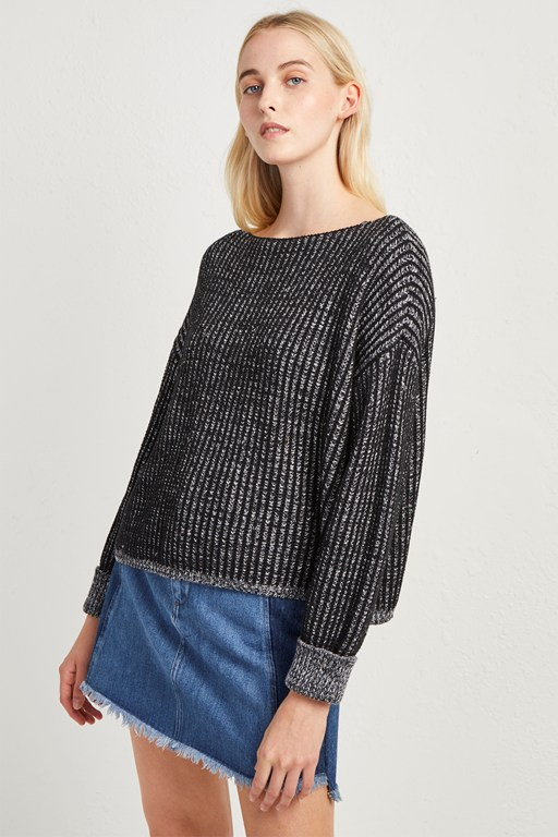 mozart drop shoulder sweater