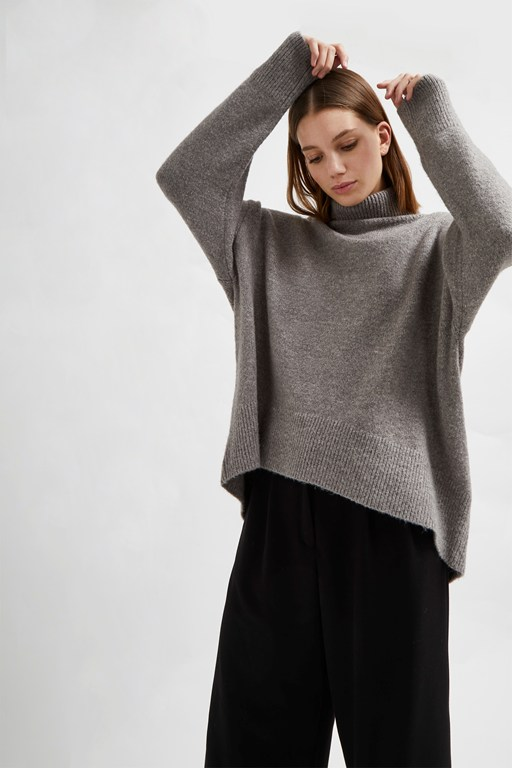 nina knit high neck sweater