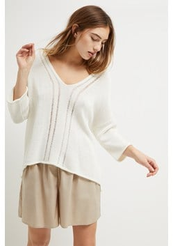 Philox Tape Yarn V Neck Sweater