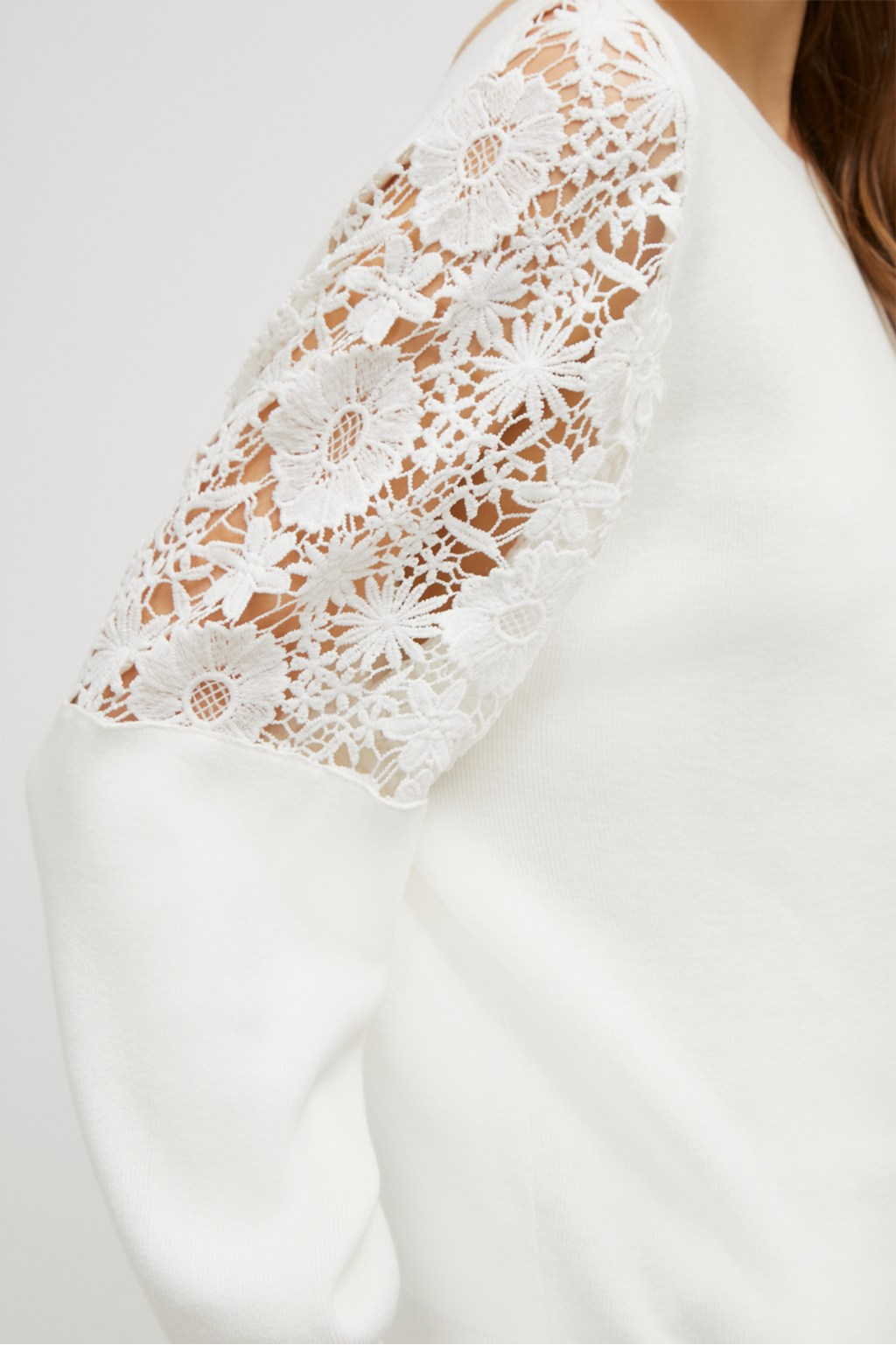 bd13ecf6894 ... Ortic Reversible V Neck Lace Sweater. loading images.