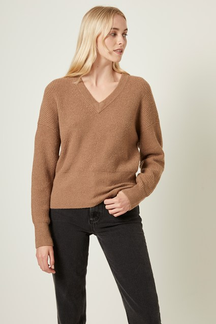 River Vhari Knits V Neck Sweater