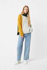 River Vhari Color Block Roll Neck Jumper