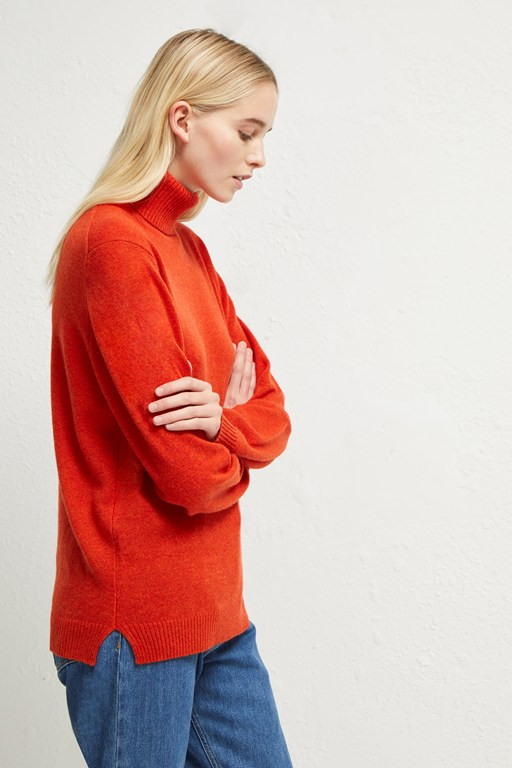 cashmere blend roll neck jumper