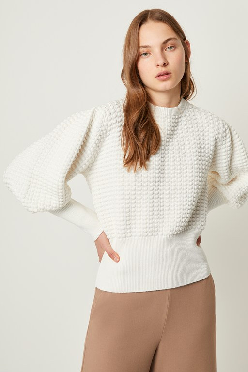 Complete the Look Mozart Popcorn Crew Neck Sweater