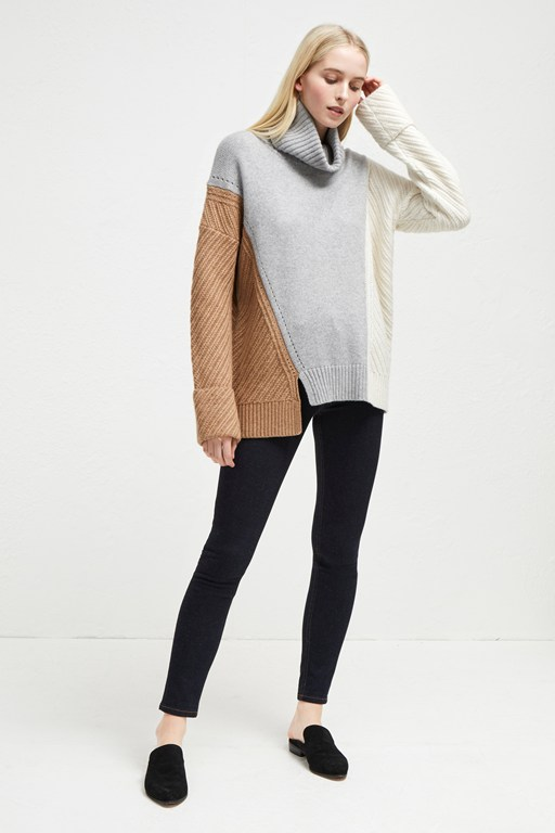 viola knits high neck sweater