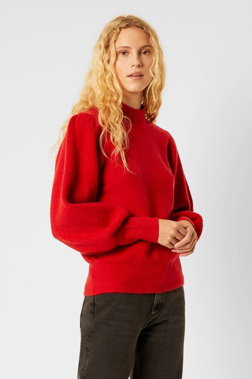 flossy puff sleeve sweater